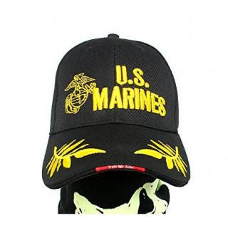 新品 ブラック U.S. MARINES ミリタリー キャップ 帽子 サバゲー(キャップ)