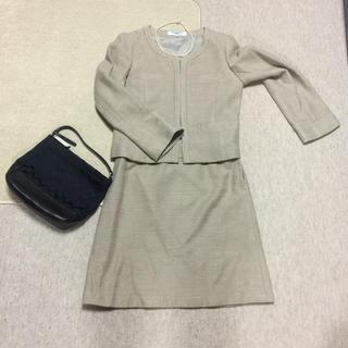 ナチュラルビューティーベーシック(NATURAL BEAUTY BASIC)のナチュべ 美品 ツィード スーツ(スーツ)