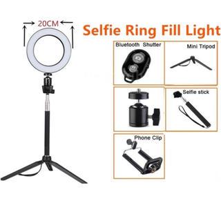 リングライト 自撮り LED ライト(ストロボ/照明)