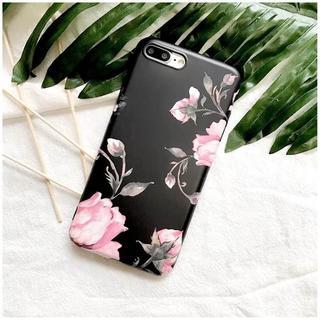 お洒落 花柄 フラワー iPhone7 iPhone8 ソフトケース(iPhoneケース)