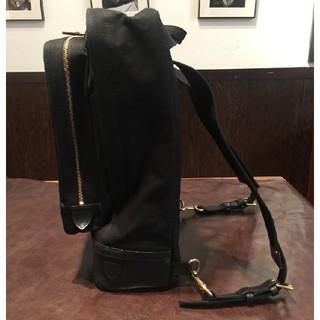 ガンゾ(GANZO)の美品中古 ガンゾ GANZO 2wayバッグ リュック キャンバス 黒 CB-1(バッグパック/リュック)