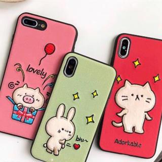 刺繍 Xr Xs Xsmax ぶた ブタ 豚 ねこ 猫 ネコ うさぎ (iPhoneケース)