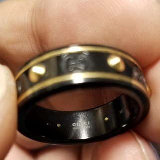 グッチ(Gucci)の炎上価格 グッチ リング スタッズ K18YG セラミック(リング(指輪))