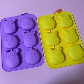 ディズニー(Disney)の新品☆ディズニー*シリコンプチケーキ型2点セット(調理道具/製菓道具)