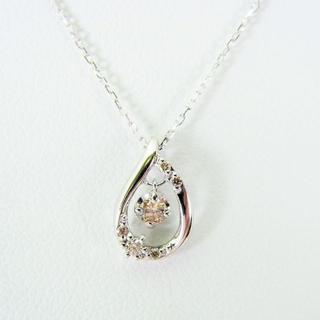 ヨンドシー(4℃)のcanal4℃ K10WG 淡ブラウンダイヤモンド ペンダント[f380-5] (ネックレス)