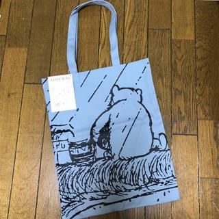 ディズニー(Disney)のクマのプーさん展◆会場販売品 トートバッグ【ブルー】(キャラクターグッズ)