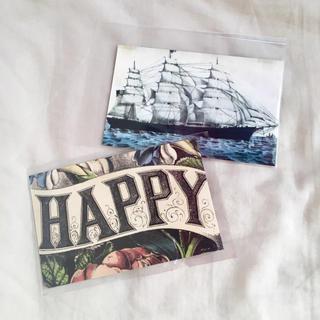 アッシュペーフランス(H.P.FRANCE)のJohn Derian ジョンデリアン ポストカード 2枚セット④ ship(切手/官製はがき)