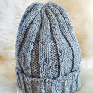 トゥモローランド(TOMORROWLAND)の■新品■ トゥモローランド ニット帽 グレー(ニット帽/ビーニー)