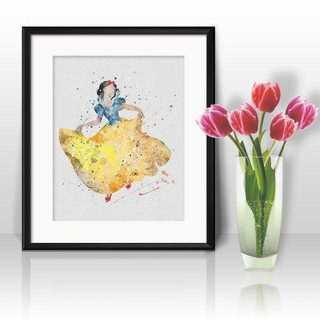 ディズニー(Disney)の日本未発売!白雪姫2・アートポスター【額縁つき・送料無料!】(ポスター)