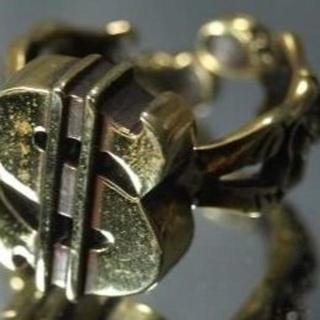 フリーサイズリング7~30号★$★ドル★ダラー★真鍮★ガイコツ★スカル★残2(リング(指輪))