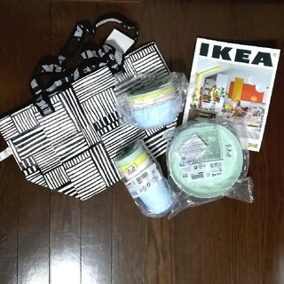 イケア(IKEA)の値下げ中*送料込*新品未使用*IKEA(イケア)食器、エコバッグ、カタログセット(収納/キッチン雑貨)
