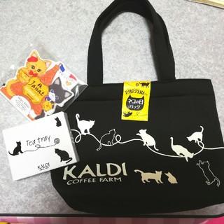 カルディ(KALDI)のカルディ 猫の日バック トレー カレンダー(トートバッグ)
