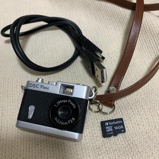 Kenko - DSC-PIENI トイカメラ Pieni ブラック マイクロSDカード付き