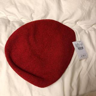 カシータ(casiTA)の赤色 ベレー帽(ハンチング/ベレー帽)