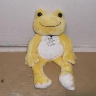 カエルのピクルス?ぬいぐるみ蛙カエル玩具黄色かえるイエロー送料無料(ぬいぐるみ)