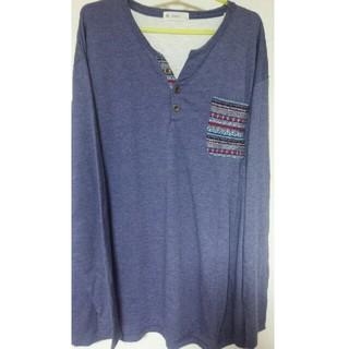 メンズ/4L/大きいサイズ/Tシャツ/長袖(Tシャツ/カットソー(七分/長袖))