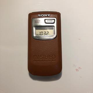 SONY - SONY ポケットラジオ TV(1-3ch)・FMステレオ/シンセサイザーラジオ