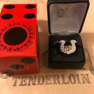 テンダーロイン(TENDERLOIN)のテンダーロインホースシューリング指輪ダイヤ入り10号チックサイズ新品(リング(指輪))