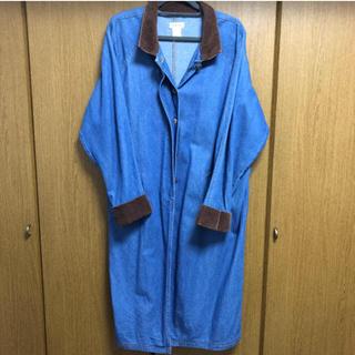 バーバリー(BURBERRY)のUSED デニム コート 古着 オーバーサイズ  (Gジャン/デニムジャケット)