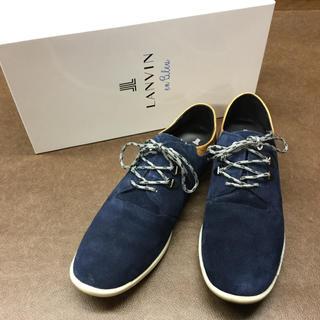 ランバンオンブルー(LANVIN en Bleu)のLANVIN en Blue スエードシューズ ランバン(ドレス/ビジネス)