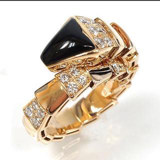 ブルガリ(BVLGARI)の正規品 ブルガリ セルペンティ ダイヤモンドオニキスリング(リング(指輪))