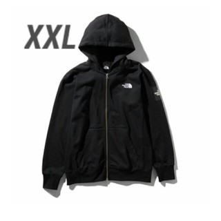 ザノースフェイス(THE NORTH FACE)のNORTH FACE SQUARE LOGO FULL ZIP XXL 黒 K(パーカー)