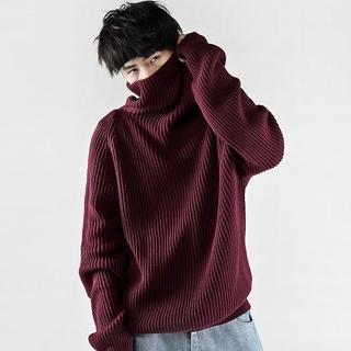 バレンシアガ(Balenciaga)の限定オーダー メンズ デザインオーバーニット赤   ジャケット ジバンシィ(ニット/セーター)