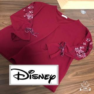ディズニー(Disney)の未使用 ディズニー ミニーちゃん エンブロイダリー 刺繍 プルオーバー(シャツ/ブラウス(長袖/七分))