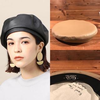 ビューティアンドユースユナイテッドアローズ(BEAUTY&YOUTH UNITED ARROWS)のBEAUTY&YOUTH 別注 RACAL ベレー帽 フェイクレザー ベージュ(ハンチング/ベレー帽)