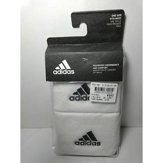 アディダス(adidas)の未使用 アディダス リストバンド S ホワイト 白(バングル/リストバンド)