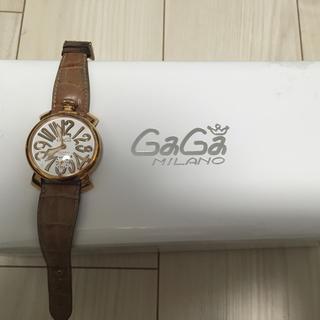 ガガミラノ(GaGa MILANO)のガガミラノ 時計 レザー 茶(レザーベルト)