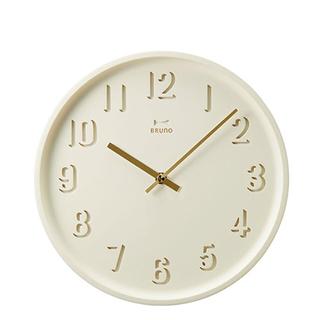 イデアインターナショナル(I.D.E.A international)のブルーノ♡ラウンドソリッドウォールクロックホワイト時計(掛時計/柱時計)
