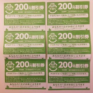 チヨダ(Chiyoda)の《8月末まで有効・匿名配送》シュープラザ 割引券6枚(ショッピング)