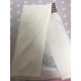 アッシュペーフランス(H.P.FRANCE)のライチ 異素材 スカート  (ひざ丈スカート)