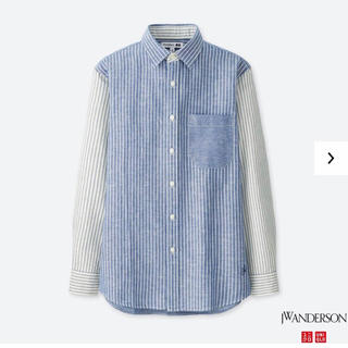 ユニクロ(UNIQLO)のユニクロ JW アンダーソン リネンシャツ 長袖 S ブルー メンズ 新品 (シャツ)