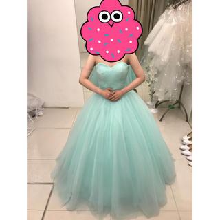 大幅お値下げ 美品 カラー ドレス ミント グリーン ブライダル ウェディング(ウェディングドレス)