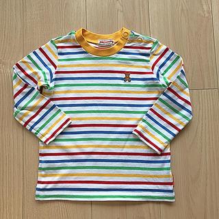 ミキハウス(mikihouse)のミキハウス  カラフルボーダーロンT 90(Tシャツ/カットソー)