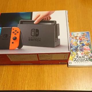 ニンテンドースイッチ(Nintendo Switch)の1年保証✨ニンテンドースイッチ 大乱闘スマッシュブラザーズ(家庭用ゲーム本体)