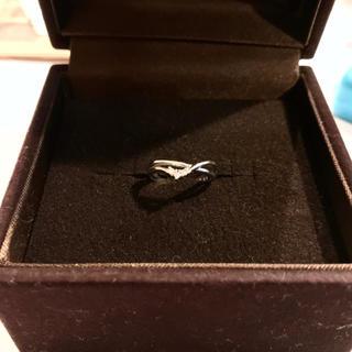 【3/2迄お取置き中】K18WGダイヤモンド ピンキーリング 1号(リング(指輪))