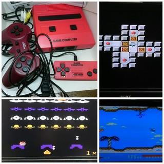 ファミリーコンピュータ(ファミリーコンピュータ)のファミコン互換機 30ゲーム内蔵 30in1AVケーブル、USB 地デジ対応 (家庭用ゲーム本体)