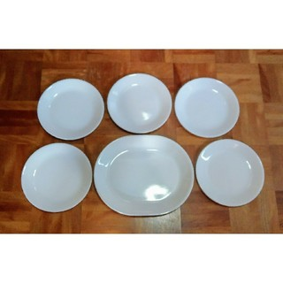 コレール(CORELLE)のコレール プレート 皿  ウインターフロストホワイト 中皿 5枚 大皿 1枚(食器)