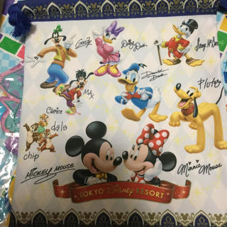 ディズニー(Disney)の大人気☆ディズニーサイン入り巾着(キャラクターグッズ)