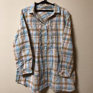 ネイビーナチュラル(navy natural)の売り切り価格!navy natural チェックシャツ(シャツ/ブラウス(長袖/七分))