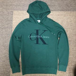 カルバンクライン(Calvin Klein)の[M] 新品 Calvin klein カルバンクライン パーカー CK 緑(パーカー)