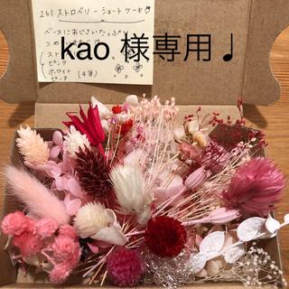 【kao様専用♩】コンパクトボックス/ストロベリーショートケーキ(ドライフラワー)