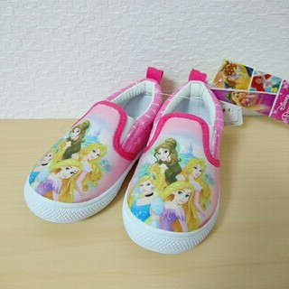 ディズニー(Disney)の新品★プリンセスシンデレラ ベル オーロラ ラプンツェルスリッポン シューズ 靴(スリッポン)