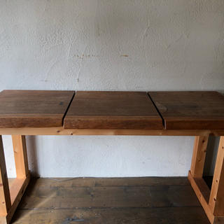 無垢ウォルナット  テーブル 特注品(バーテーブル/カウンターテーブル)