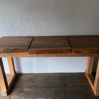 無垢 ウォルナット テーブル 特注品(バーテーブル/カウンターテーブル)