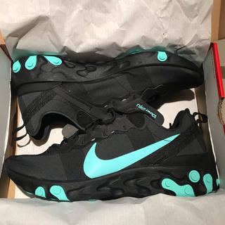 ナイキ(NIKE)のNike React Element 55 Black Aurora Green(スニーカー)