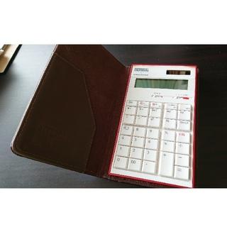 アマダナ(amadana)のアマダナ amadana 電卓 カバー付き(オフィス用品一般)